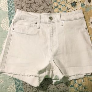 Abercrombie & Fitch White Jean Shorts